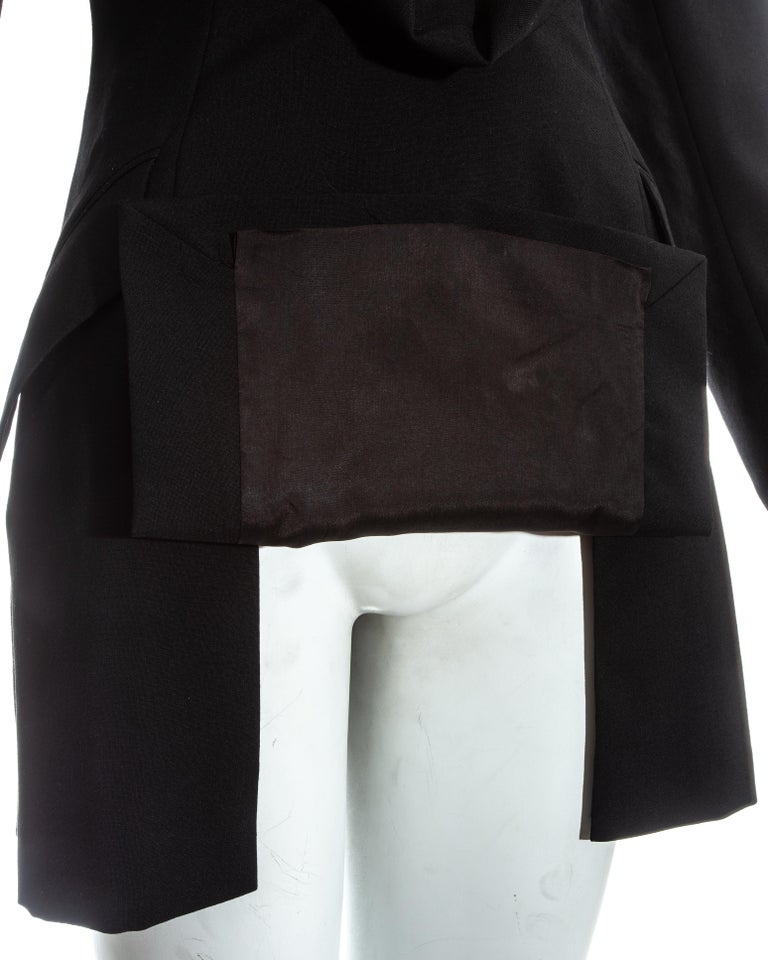 Alexander McQueen black wool blazer mini dress with shawl lapel, ss 1998 For Sale 3