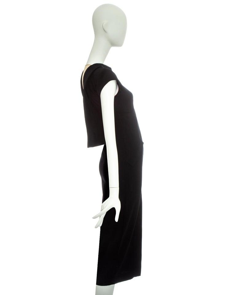 Alexander McQueen black wool 'Joan' dress with open back, fw 1998 For Sale 2