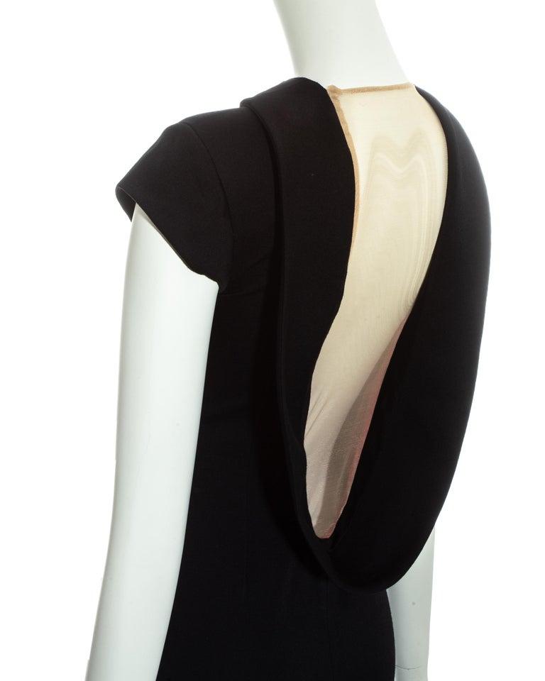 Alexander McQueen black wool 'Joan' dress with open back, fw 1998 For Sale 4