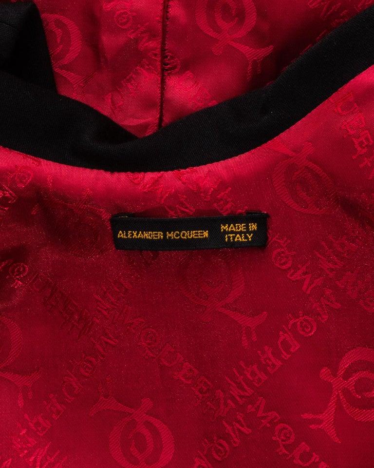 Alexander McQueen black wool 'Joan' dress with open back, fw 1998 For Sale 5