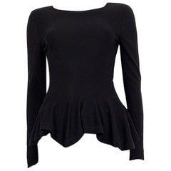 Alexander McQueen black wool PEPLUM Sweater S
