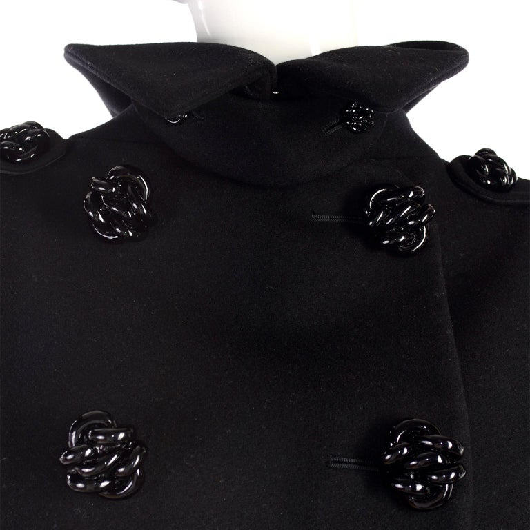 Alexander McQueen Black Wool Sculptured Jacket The Horn of Plenty Runway 2009  For Sale 6