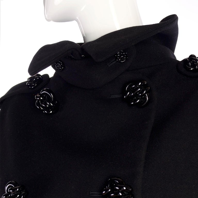 Alexander McQueen Black Wool Sculptured Jacket The Horn of Plenty Runway 2009  For Sale 8