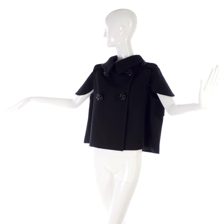 Alexander McQueen Black Wool Sculptured Jacket The Horn of Plenty Runway 2009  In Excellent Condition For Sale In Portland, OR