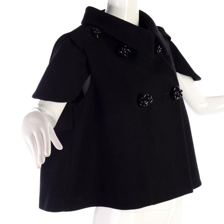 Women's Alexander McQueen Black Wool Sculptured Jacket The Horn of Plenty Runway 2009  For Sale