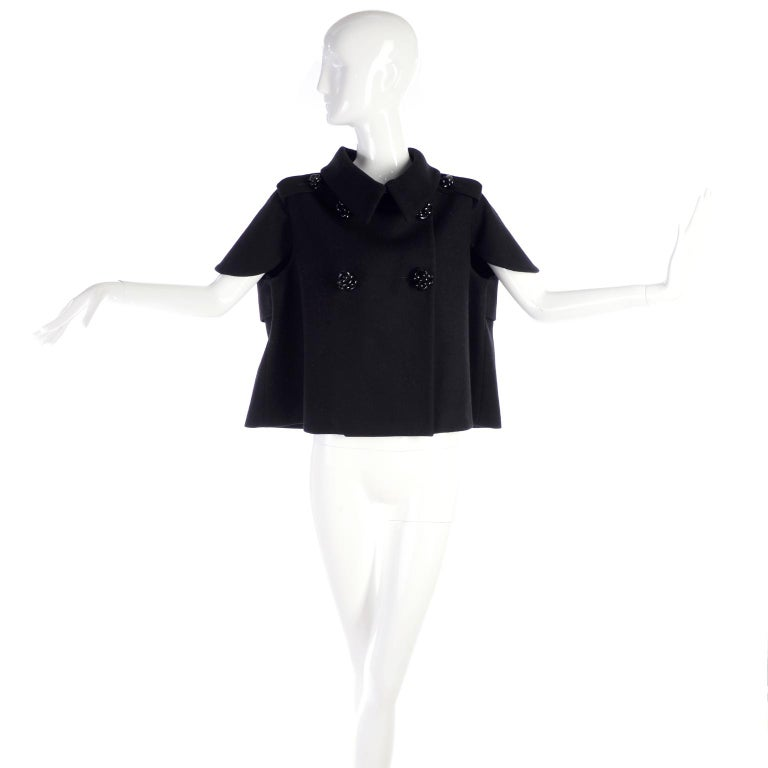 Alexander McQueen Black Wool Sculptured Jacket The Horn of Plenty Runway 2009  For Sale 2