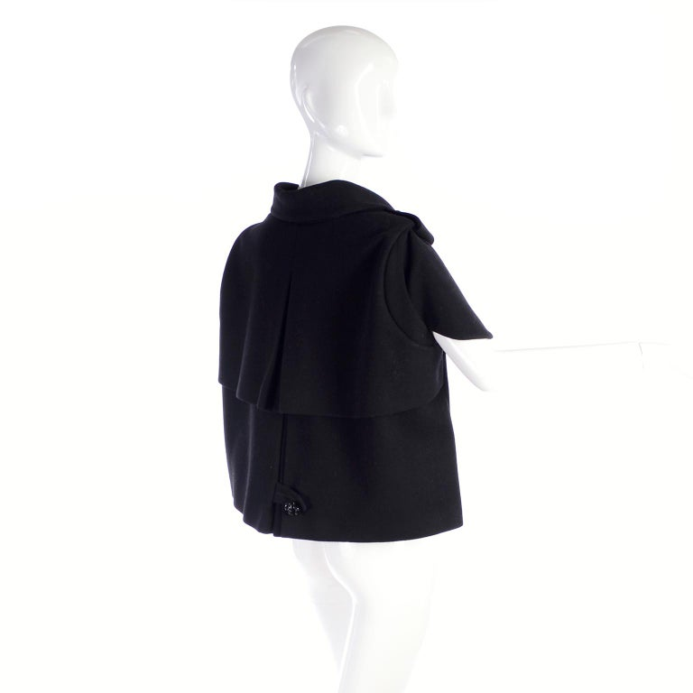 Alexander McQueen Black Wool Sculptured Jacket The Horn of Plenty Runway 2009  For Sale 4
