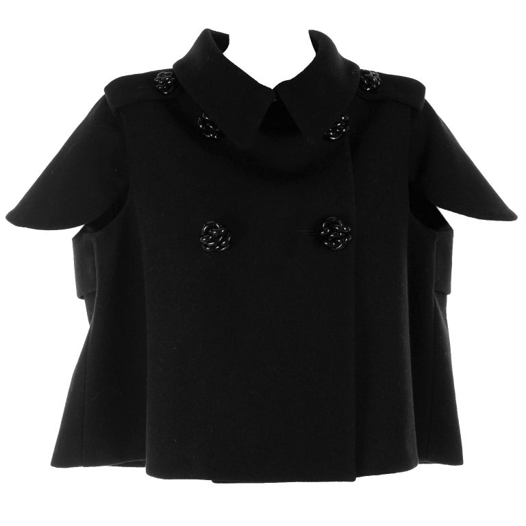 Alexander McQueen Black Wool Sculptured Jacket The Horn of Plenty Runway 2009  For Sale