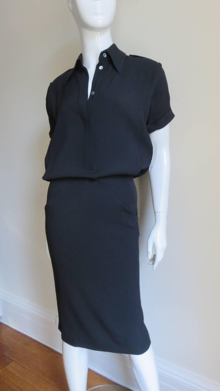 Alexander McQueen Shirtwaist Dress In Good Condition For Sale In Watermill, NY
