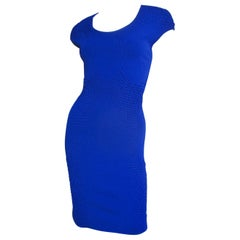 Alexander McQueen Blue Bodycon Dress