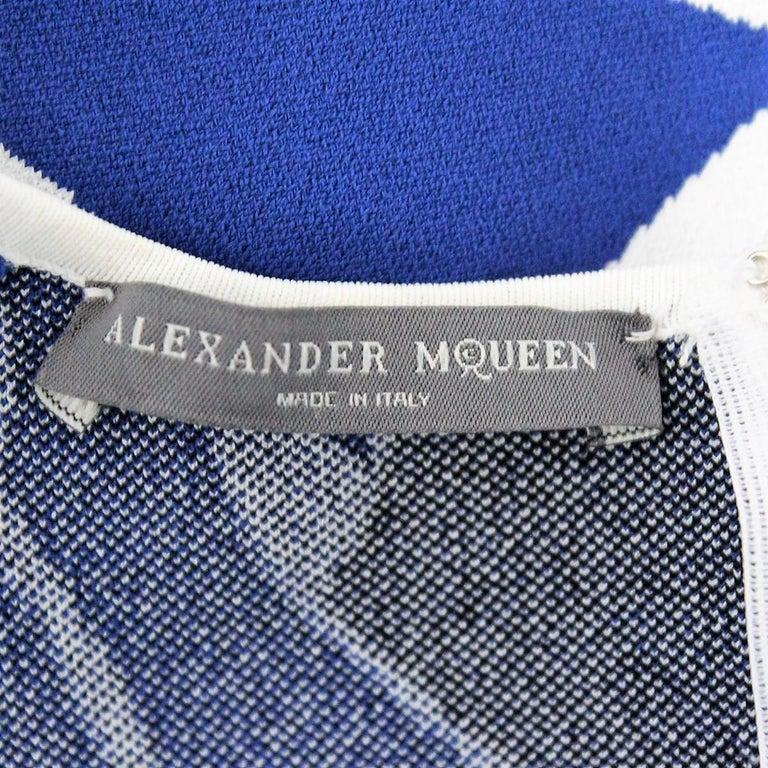 Alexander McQueen Blue Dress S For Sale 1