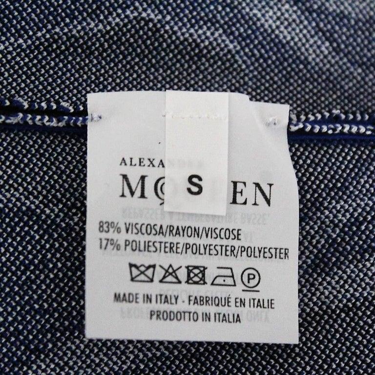 Alexander McQueen Blue Dress S For Sale 2