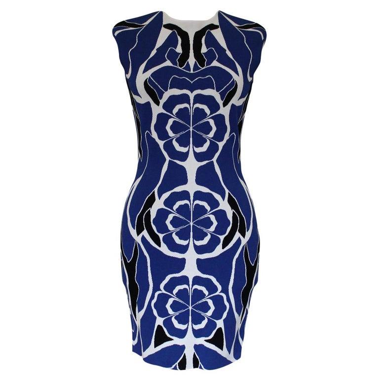 Alexander McQueen Blue Dress S For Sale