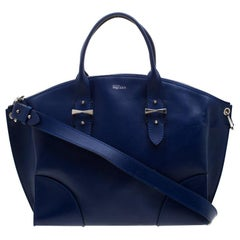 Alexander McQueen Blue Leather Legend Satchel