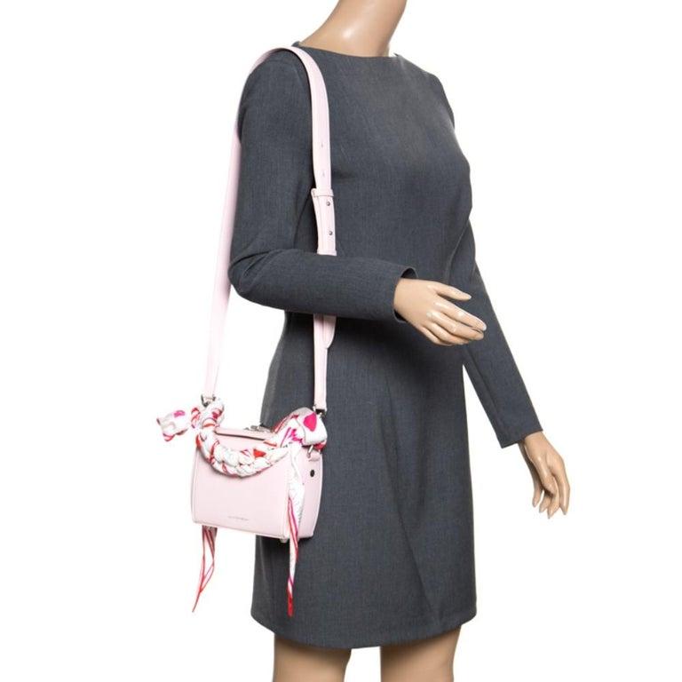 Alexander McQueen Blush Pink Leather Scarf Box Shoulder Bag In Excellent Condition For Sale In Dubai, Al Qouz 2