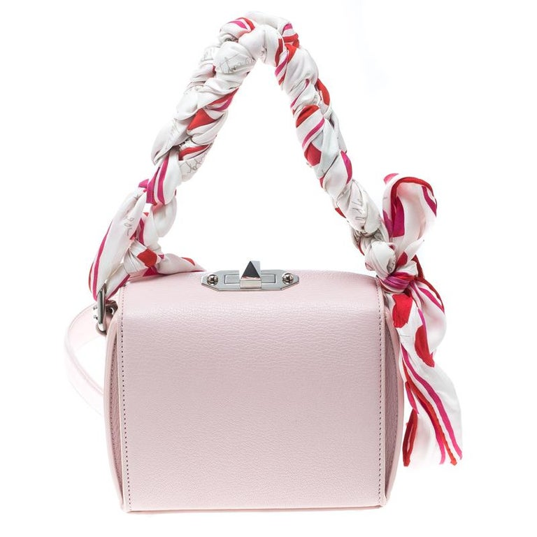 7d7bc6b20e4 Alexander McQueen Blush Pink Leather Scarf Box Shoulder Bag In Excellent  Condition For Sale In Dubai