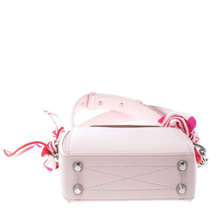 c73b8ad18ac Women s Alexander McQueen Blush Pink Leather Scarf Box Shoulder Bag For Sale