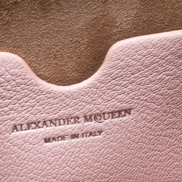 Alexander McQueen Blush Pink Leather Scarf Box Shoulder Bag For Sale 2