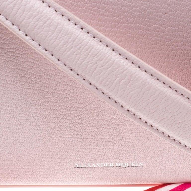Alexander McQueen Blush Pink Leather Scarf Box Shoulder Bag For Sale 5