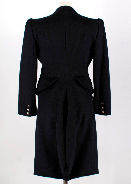 Black Alexander McQueen Botton Detail Coat US 4 For Sale