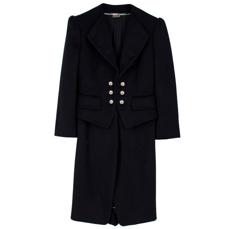 Alexander McQueen Botton Detail Coat US 4 In New Condition For Sale In London, GB