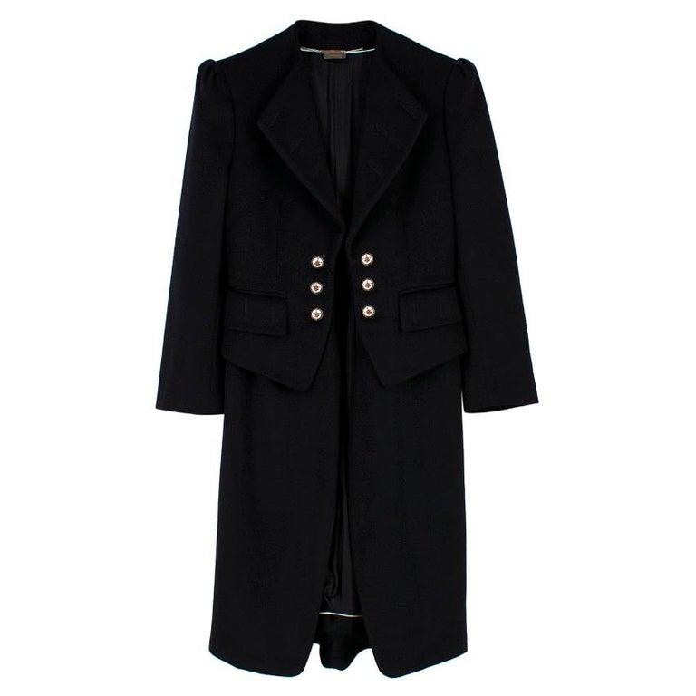 Women's Alexander McQueen Botton Detail Coat US 4 For Sale