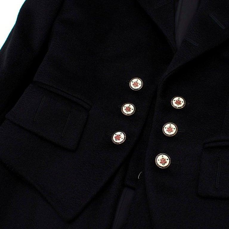 Alexander McQueen Botton Detail Coat US 4 For Sale 3
