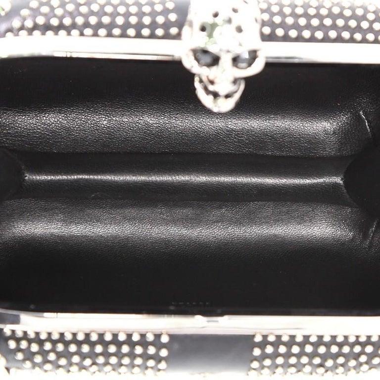 Alexander McQueen Britannia Skull Box Clutch Studded Leather Small For Sale 2