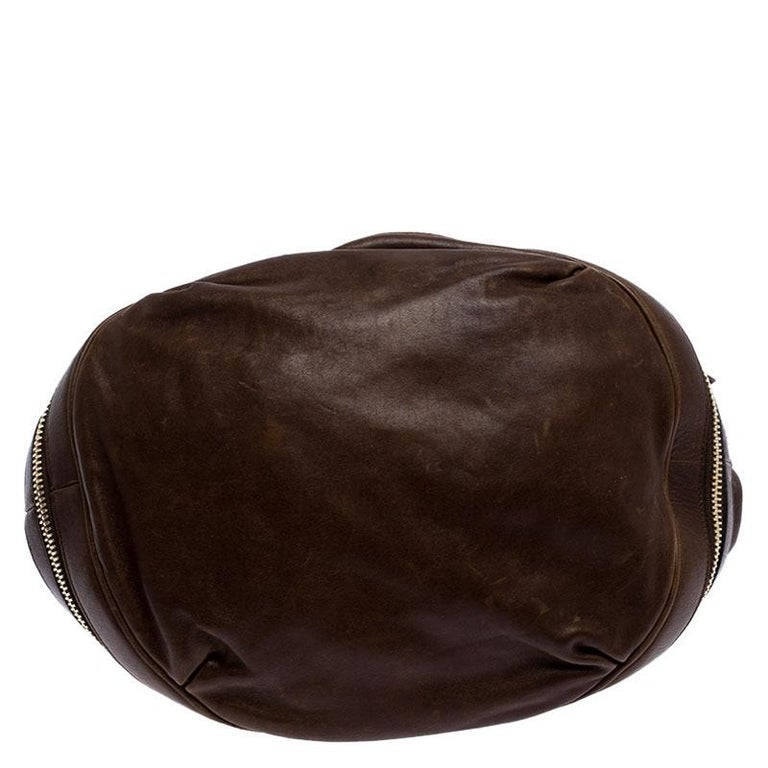 Alexander McQueen Brown Leather Faithful Bucket Tote For Sale 3