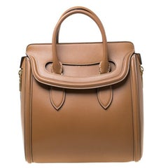 Alexander McQueen Brown Leather Heroine Satchel