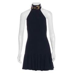 Alexander McQueen Buckle Halter Mini Dress, 2010