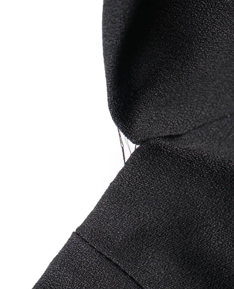 ALEXANDER McQUEEN c. 2007 Black Ribbon Band Silk Drop Waist Sleeveless Dress 38 For Sale 4