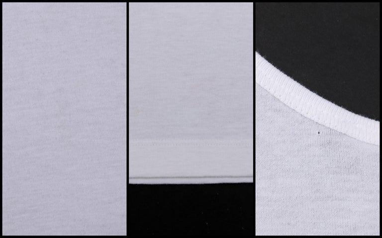 ALEXANDER McQUEEN c. 2009 White Silkscreen Lips Cotton V-Neck Tank Top  For Sale 4