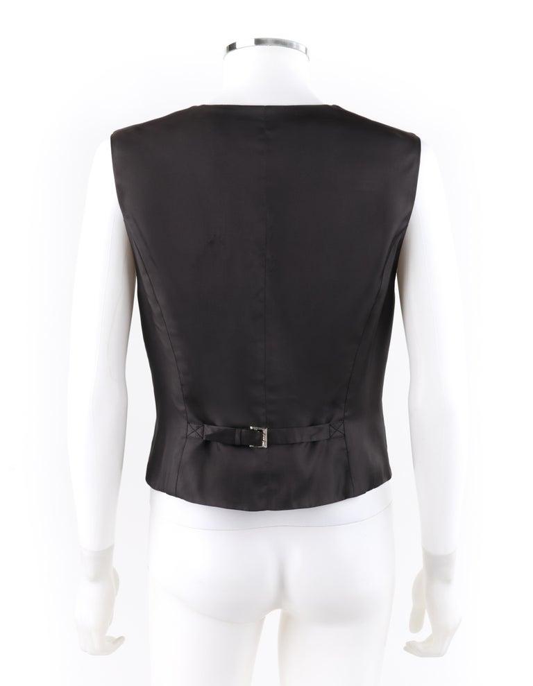 ALEXANDER McQUEEN c.2008 Savile Row Cashmere Women's Bumble Bee Detail Vest For Sale 1