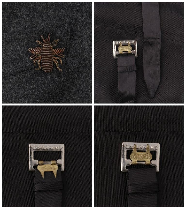 ALEXANDER McQUEEN c.2008 Savile Row Cashmere Women's Bumble Bee Detail Vest For Sale 4