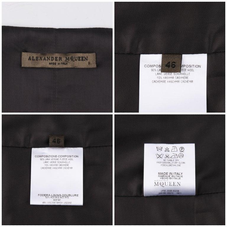 ALEXANDER McQUEEN c.2008 Savile Row Cashmere Women's Bumble Bee Detail Vest For Sale 5