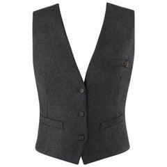 ALEXANDER McQUEEN c.2008 Savile Row Cashmere Women's Bumble Bee Detail Vest