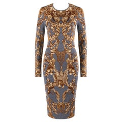 "ALEXANDER McQUEEN c.2010 ""Angels & Demons"" Grinling Gibbons Knit Sheath Dress"
