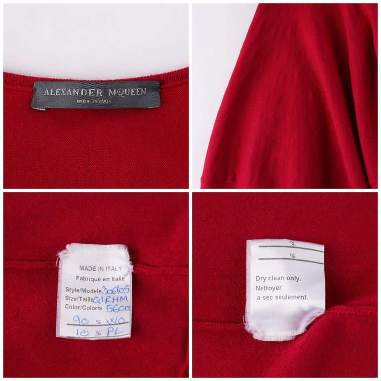ALEXANDER McQUEEN c.2012 Raspberry Pink Fit n Flare Skater Dress SAMPLE For Sale 1