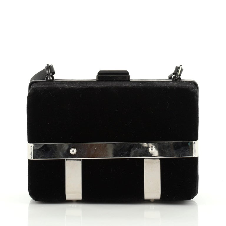 Black Alexander McQueen Caged Box Bag Velvet