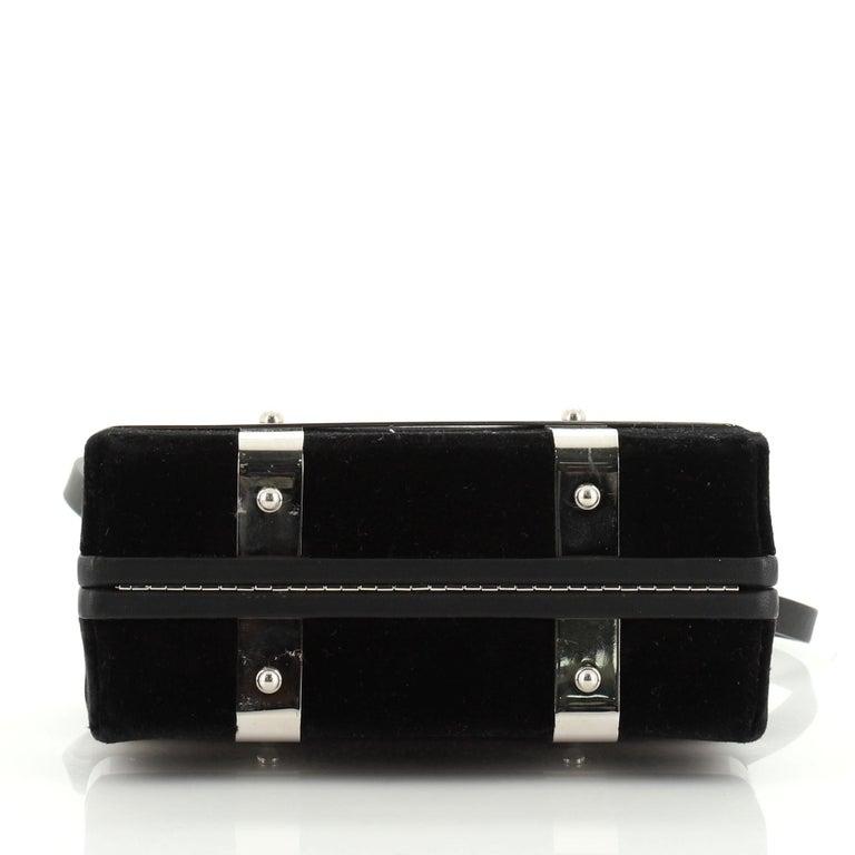 Alexander McQueen Caged Box Bag Velvet In Good Condition In New York, NY