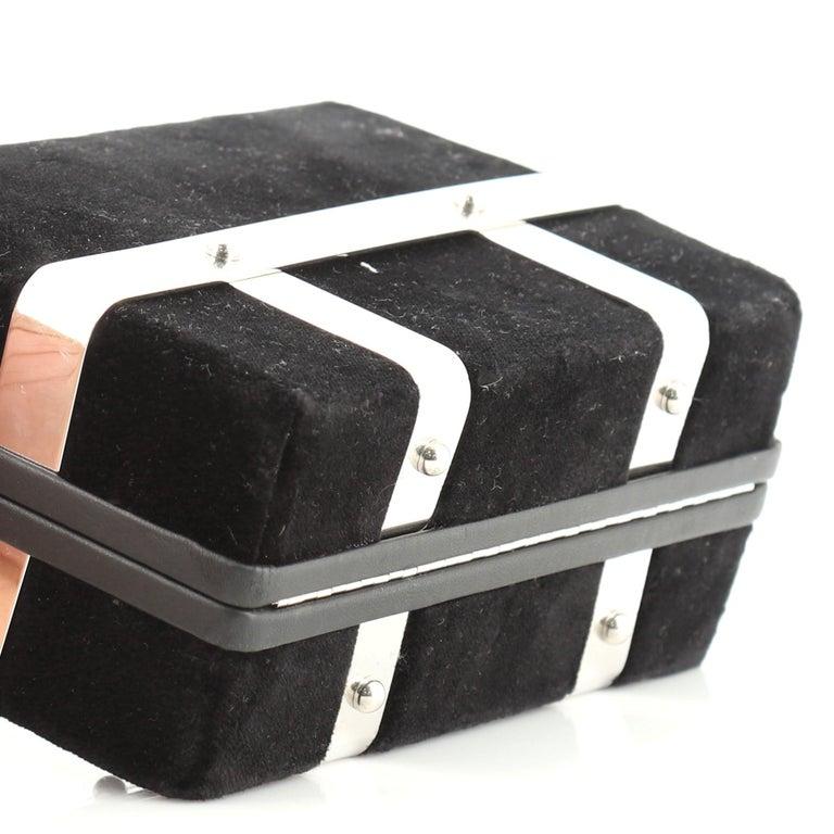 Alexander McQueen Caged Box Bag Velvet 1