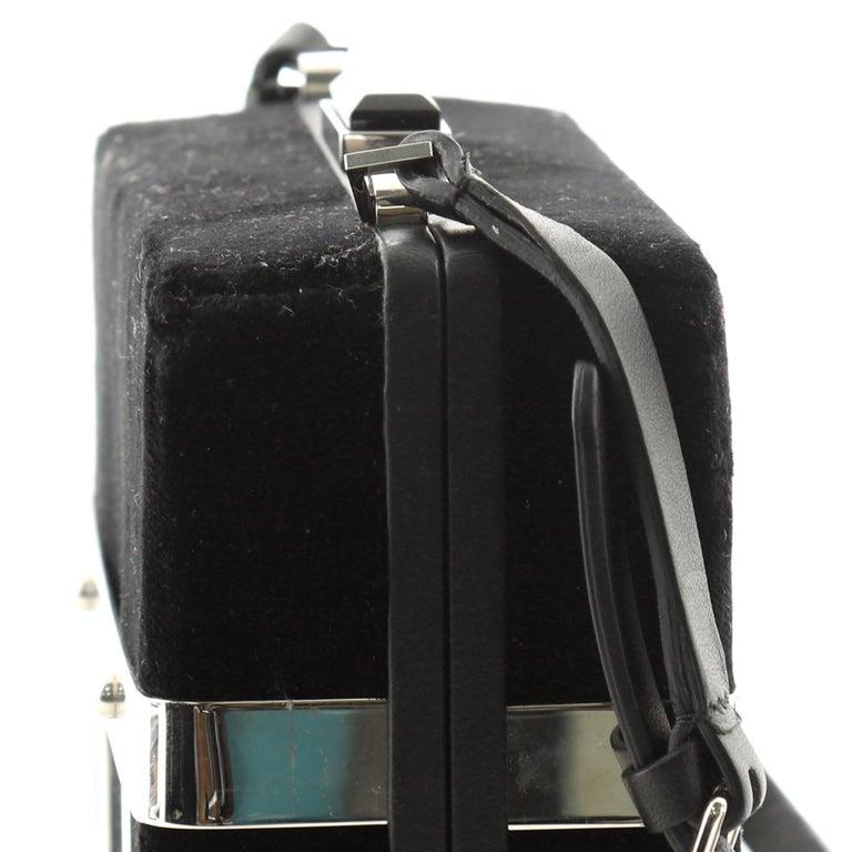Alexander McQueen Caged Box Bag Velvet 2