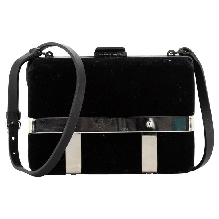 Alexander McQueen Caged Box Bag Velvet