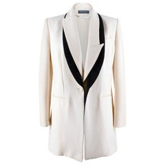 Alexander McQueen Cream Jacket with Black Trim IT 44
