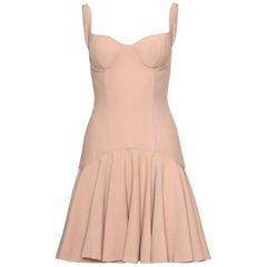 Alexander McQueen Crepe Bustier Dress
