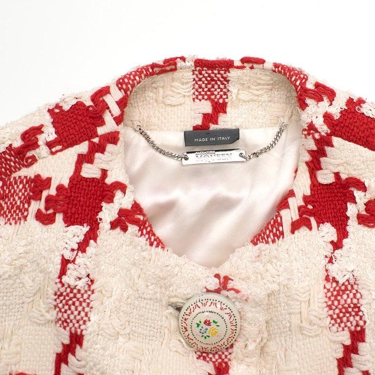 Women's Alexander McQueen Crop Check Tweed Jacket IT 40 For Sale