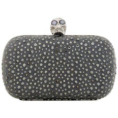 Alexander McQueen Crystal Skull Clutch Bag