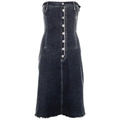 Alexander McQueen denim corset dress, fw 1996