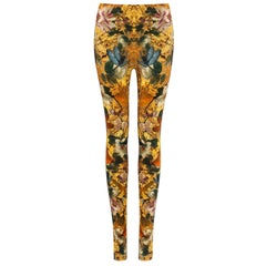 ALEXANDER McQUEEN Dragonfly Floral Printed Stretch Legging Pant